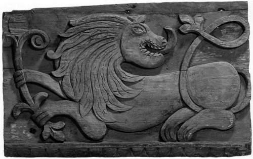 Лобовая доска фрагмент лев